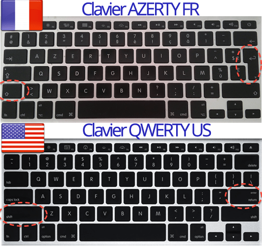 diff u00e9rence clavier macbook azerty et qwerty - touchedeclavier com